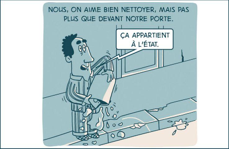 """Un des dessins de la bande dessinée """"100% bled"""" de Salim Zerrouki"""