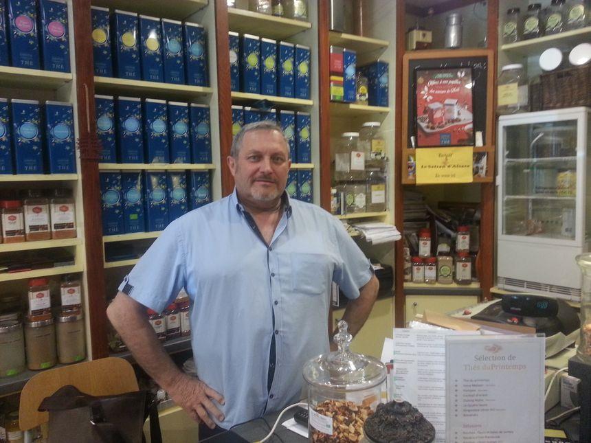 Philippe George, le président des vitrines de Sélestat est favorable à ce plan d'attractivité