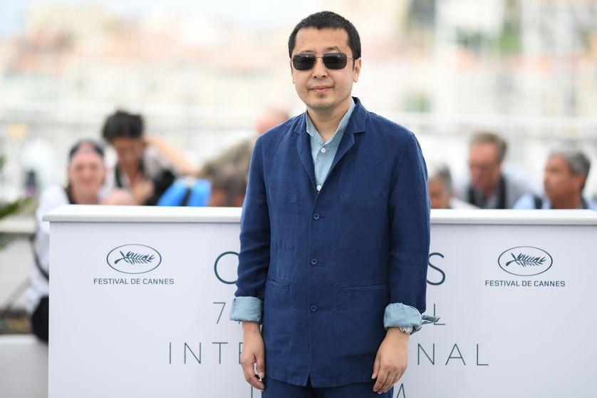 Jia Zhangke à Cannes le 12 mai 2018