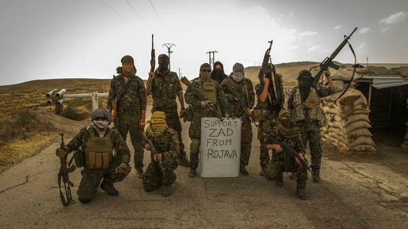 Les combattants pro-kurdes du Rojava soutiennent la ZAD de Notre-Dame-des-Landes depuis la Syrie