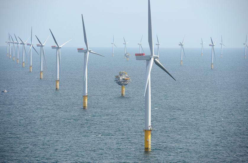 Ferme d'éoliennes offshore à  Middelgrunden au Danemark