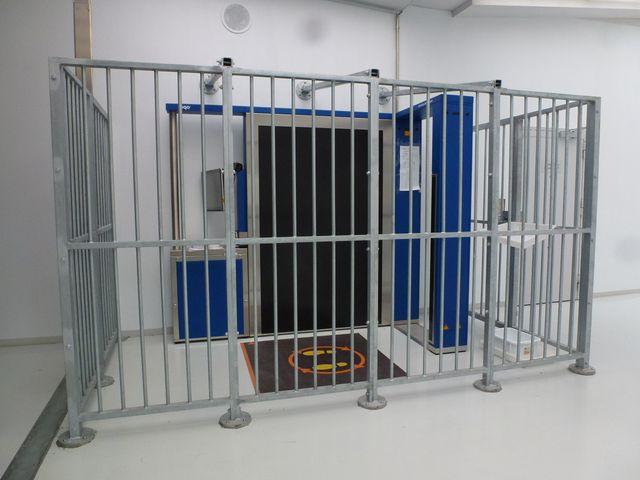 Le portique à ondes pour contrôler les détenus au retour des parloirs