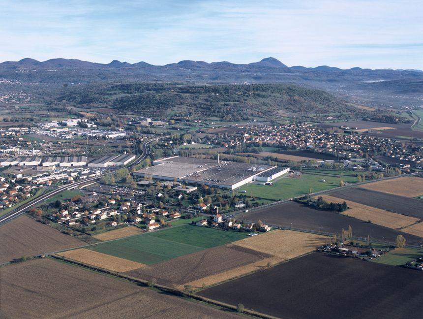 Vue aérienne de l'ancien site de la Seita à Riom