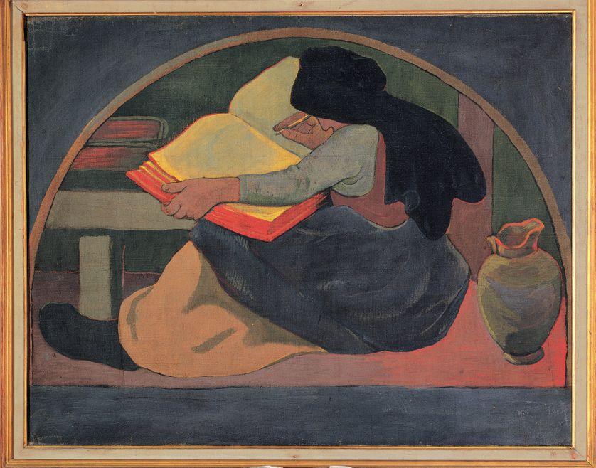 """""""La Grammaire ou l'Etude"""", peinture de l'école de Paul Serusier"""