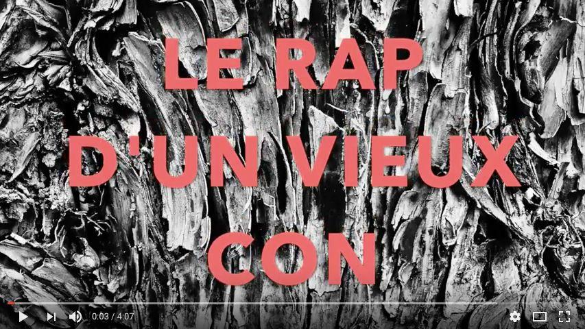 """""""Le rap d'un vieux con"""" Daniel Roure"""