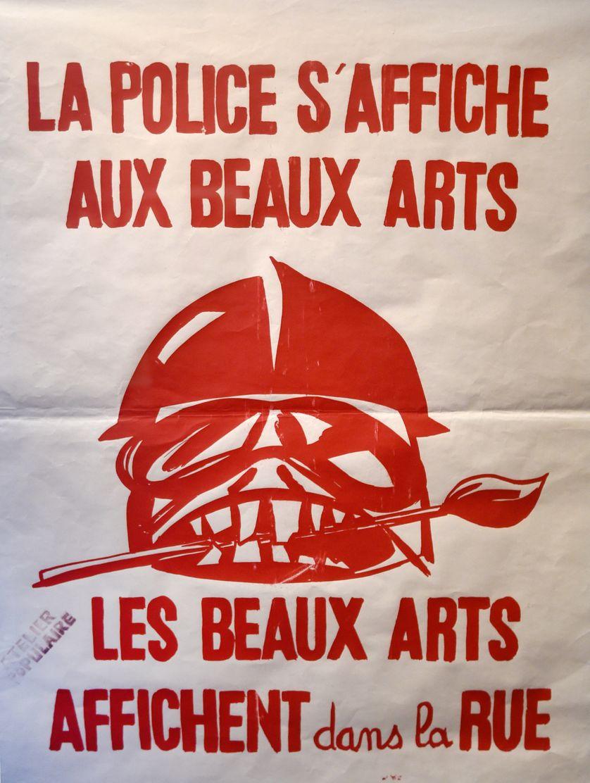 Une des nombreuses affiches faites par les étudiants des Beaux-Arts