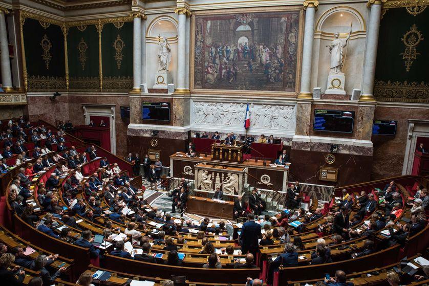L'hémicycle de l'Assemblée Nationale le 23 mai 2018