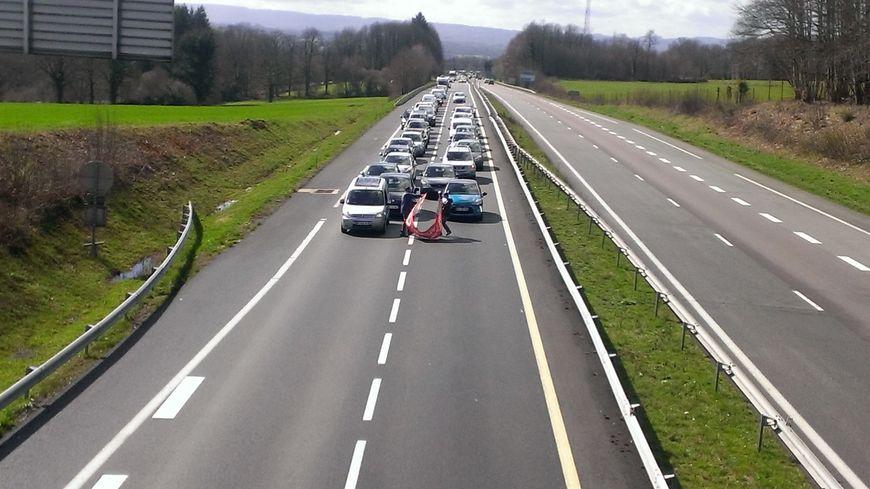 Une opération escargot prévue sur l'A20 au nord de la Haute-Vienne (photo illustration autre manifestation)
