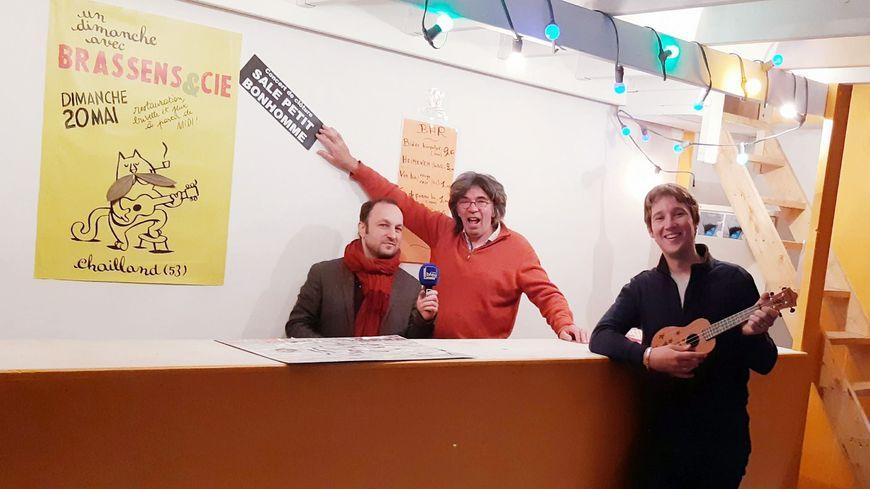 François Soutif et Jean-Paul Bosset, de l'Association Récréative Chaillandaise
