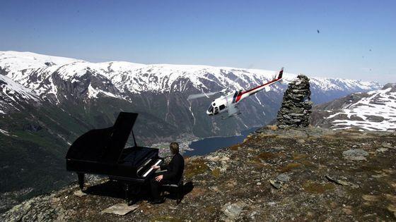 Leif Ove Andsnes en enregistrement à Rossnos