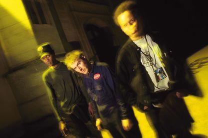 Les trois Anglais de Bristol, 3D, Daddy G et Mushroom, en 1994, quatre ans avant la parution de leur album 'Mezzanine'.
