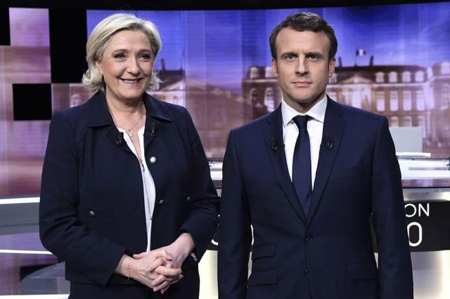 Débat télévisé de l'entre-deux tour sur TF1 avec les deux finalistes de l'élection : Marine Le Pen et Emmanuel Macron