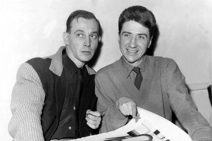 Chris Marker (à gauche) avec Alain Resnais en 1954
