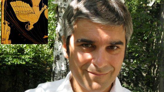 Vincent-Raphaël Carinola par Esther Carinola et Ulysse et les Sirènes sur un cratère grec du Vè S av JC