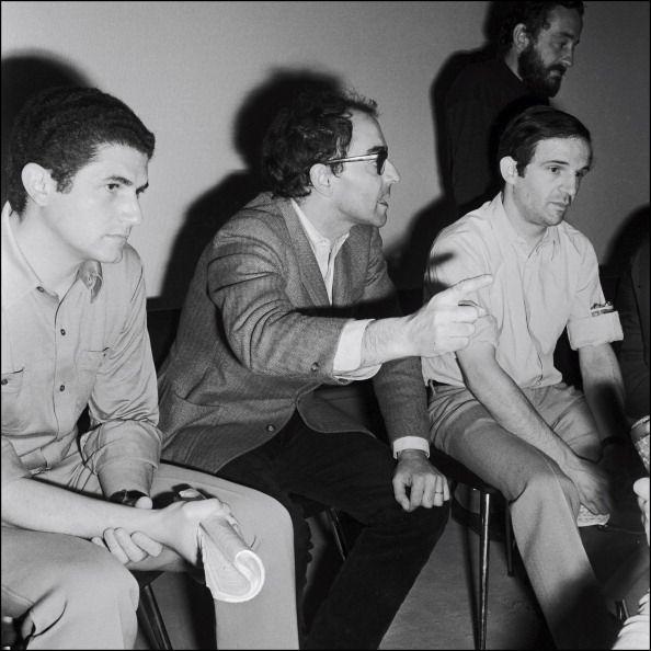 Claude Lelouch, Jean-Luc Godard, Francois Truffaut, Cannes, mai 1068