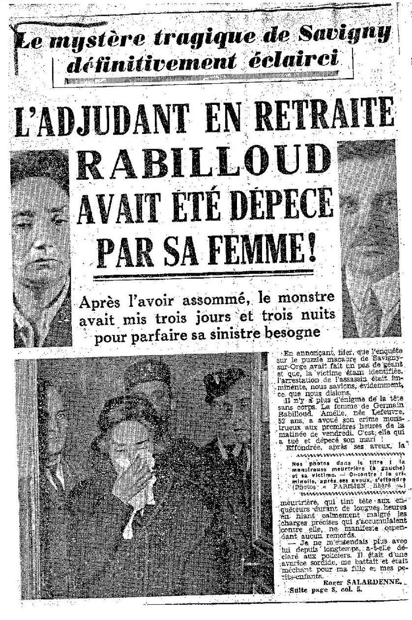 Article du Parisien du 14 janvier 1950