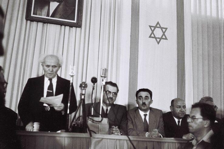 14 mai 1948, à Tel Aviv