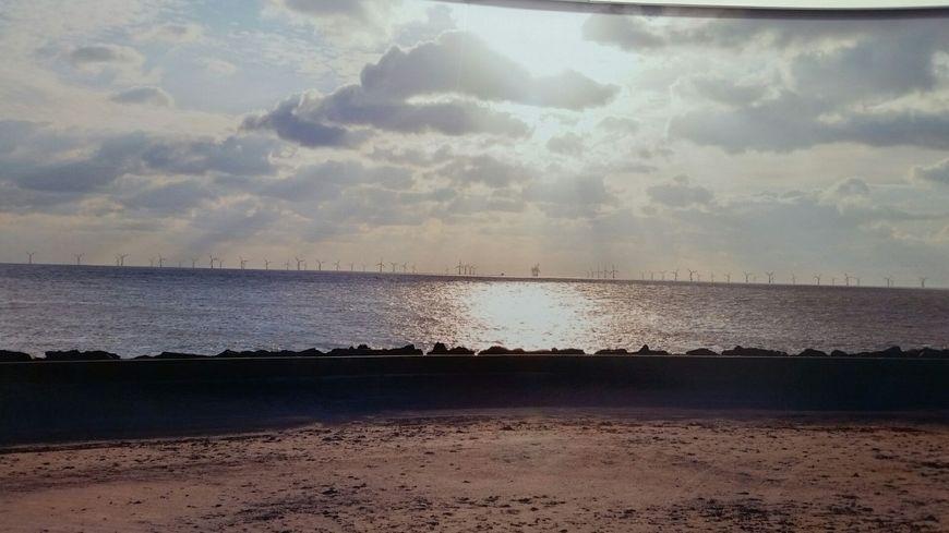 L'un des photomontages présentés par le promoteur du projet de centrale éolienne offshore