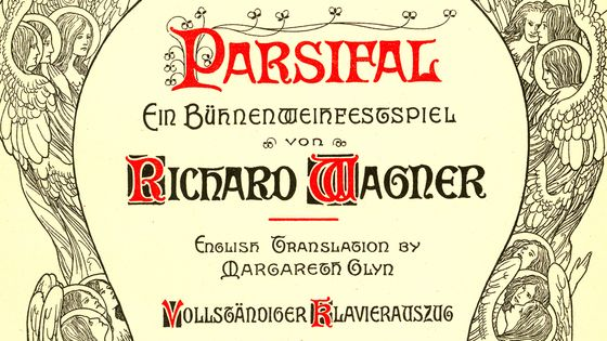 Couverture de la partition de Parsifal de Richard Wagner