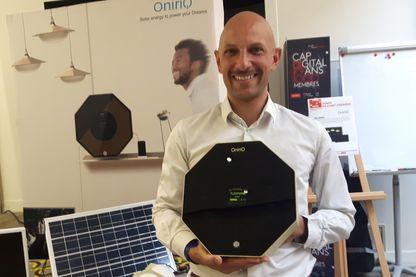 Rodolphe Rosier et sa box à énergie solaire Paris mai 2018
