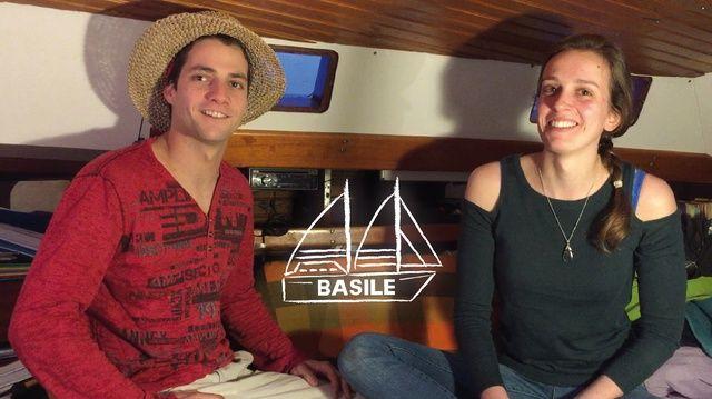 Mathieu et Iris rétapent le voilier Basile
