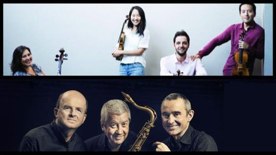 Quatuor Ellipse © facebook / Guillaume de Chassy, Christophe Marguet & Andy Shepard © https://nomadmusic.fr