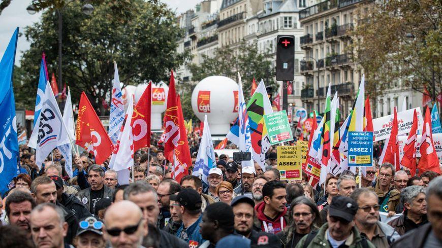 Manifestation du service public à Paris le 10 octobre 2017.
