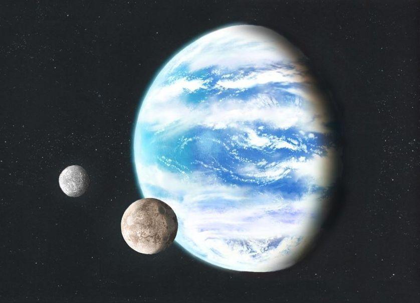 Vue d'artiste d'une exoplanète