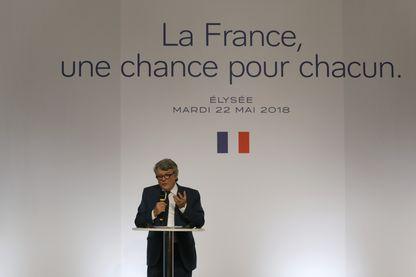 Jean-Louis Borloo à la présentation de son plan banlieue en mai 2018