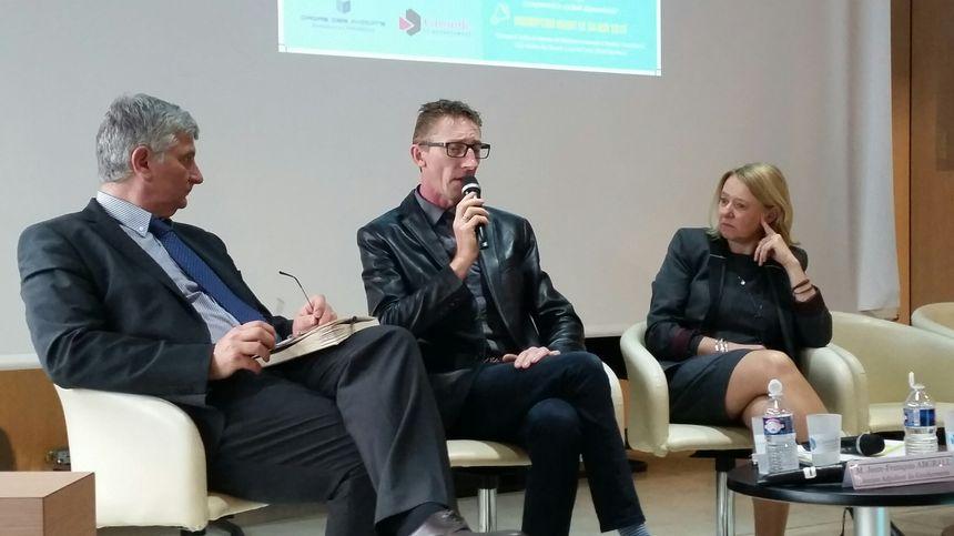 Lors de l'intervention de Patrick Dils, lors du colloque à Bordeaux