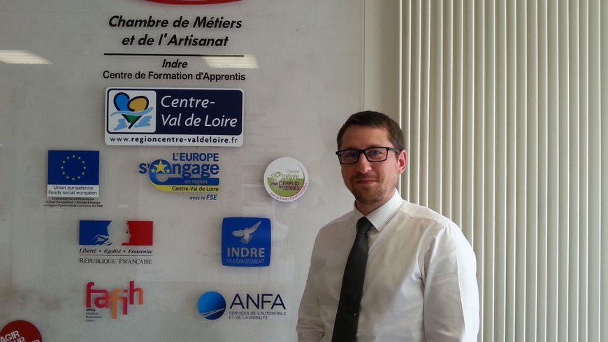 Fabrice Miroux, directeur du CFA de Châteauroux