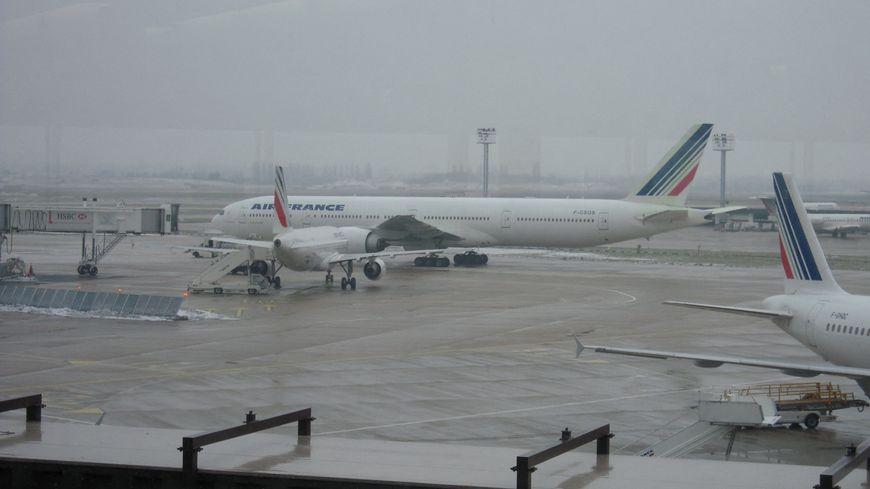 Des avions d'Air France garés à Orly