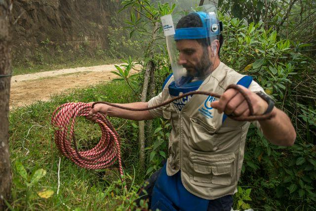 Ignacio Gonzalez, repsonsable du déminage dans le Cauca pour Handicap international