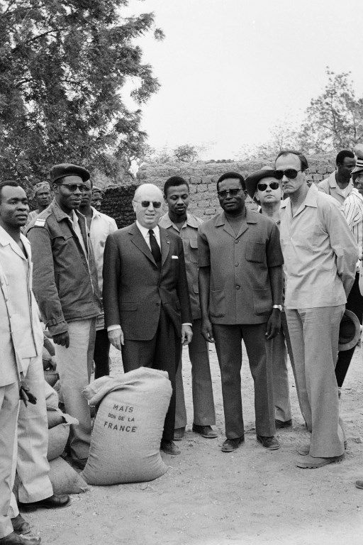 Jouany Ouedraogo, Jacques Foccart, Charles Bila Kabore, Paul Blanc, 3 mai 1974.
