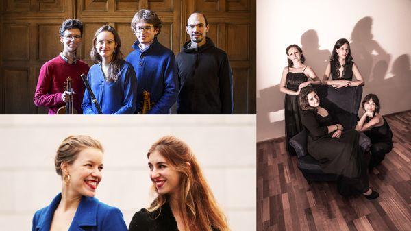 Valentin Tournet et le Quatuor de la Chapelle Harmonique ; Fiona McGown et Célio Oneto Bensaïd ; le Quatuor Constanze