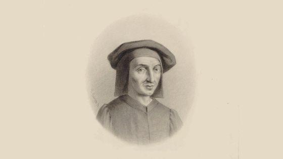 Josquin Desprez, lithographie de Gustav Adolf Gaupp (1870)