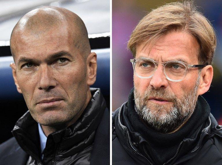 Zinedine Zidane et Jürgen Klopp