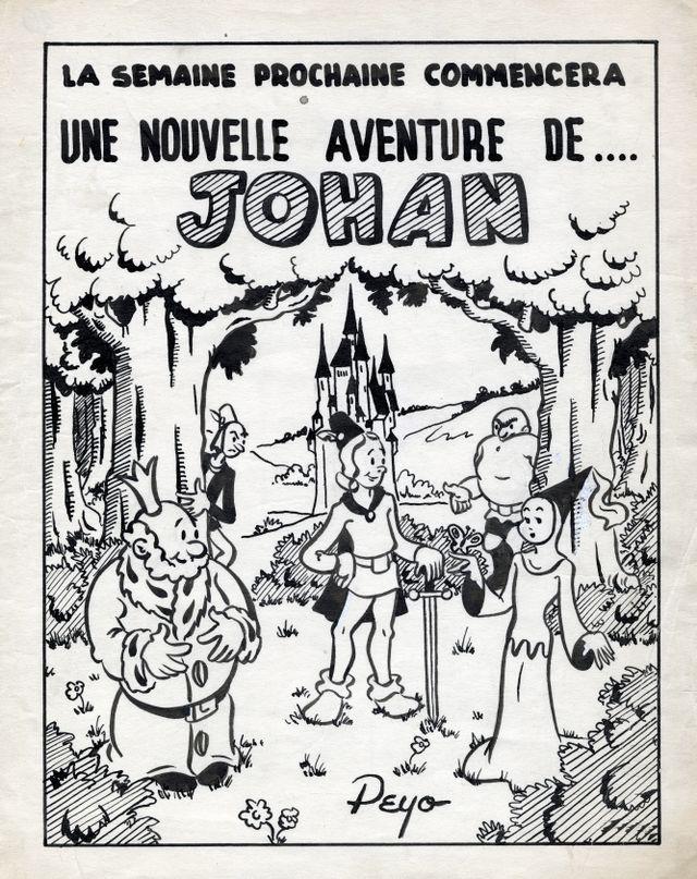 Annonce dans Spirou de Johan de Peyo