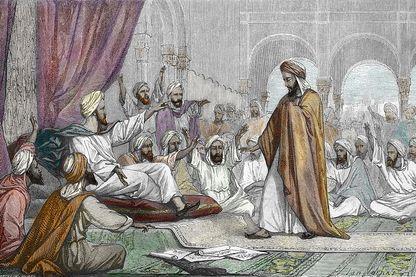 Averroès banni par le calife Al-Mansur en 1195, par Louis Figuier, 1867