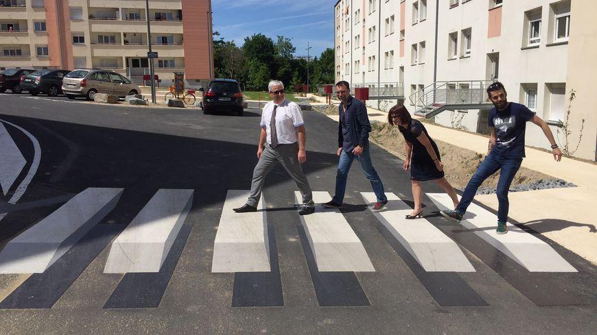 Le premier passage-piéton en 3D a été inauguré le 11 mai à Limoges.