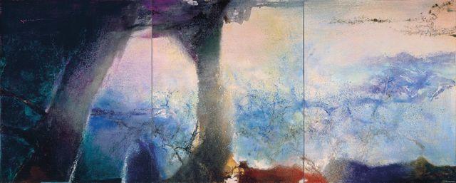 Zao Wou-Ki, Hommage à Claude Monet , février-juin 91 – Triptyque, 1991