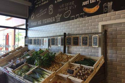 Les produits frais de l'épicerie d'invendus de Melesses mai 2018