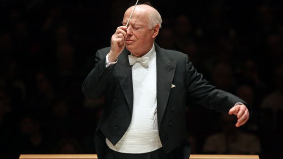 Bernard Haitink leading the Boston Symphony Orchestra and the Tanglewood Festival Chorus in Maurice Ravel's 'Daphnis et Chloe' at Carnegie Hall on Wednesday night, February 12, 2014.
