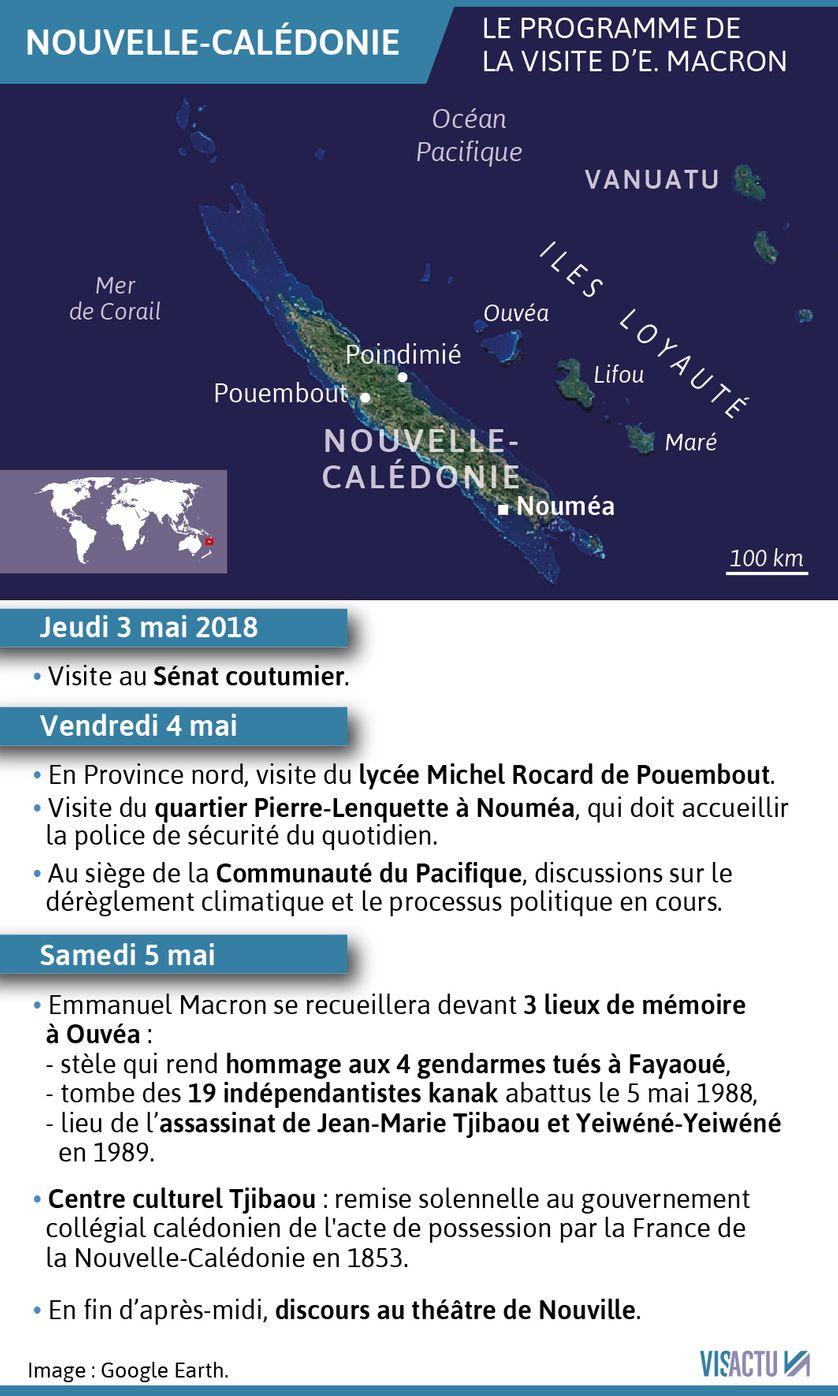 Emmanuel Macron passera trois jours en Nouvelle-Calédonie