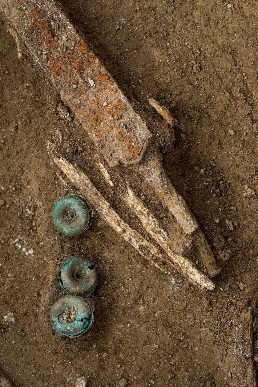 détail d'une épée, Site Buchères