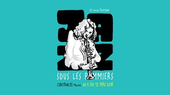 visuel 2018 du festival Jazz sous les pommiers