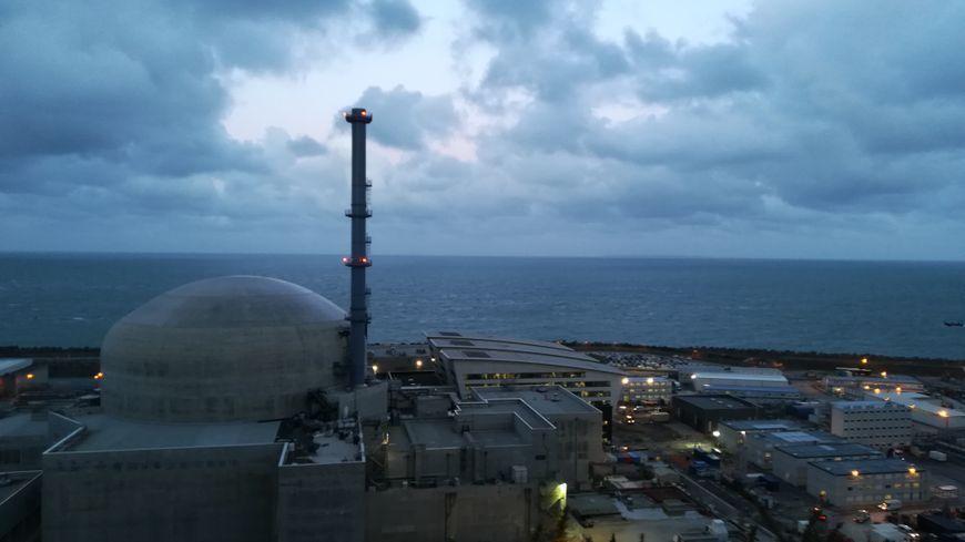 Le réacteur nucléaire EPR en cours de construction à Flamanville (Manche)
