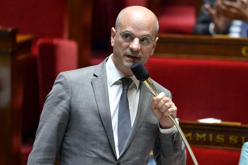 Le ministre de d'Education nationale Jean-Michel Blanquer répond aux députés à l'Assemblée Nationale en octobre 2017