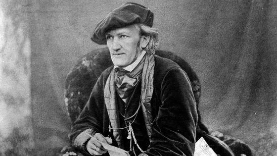 Le compositeur allemand Richard Wagner en 1868