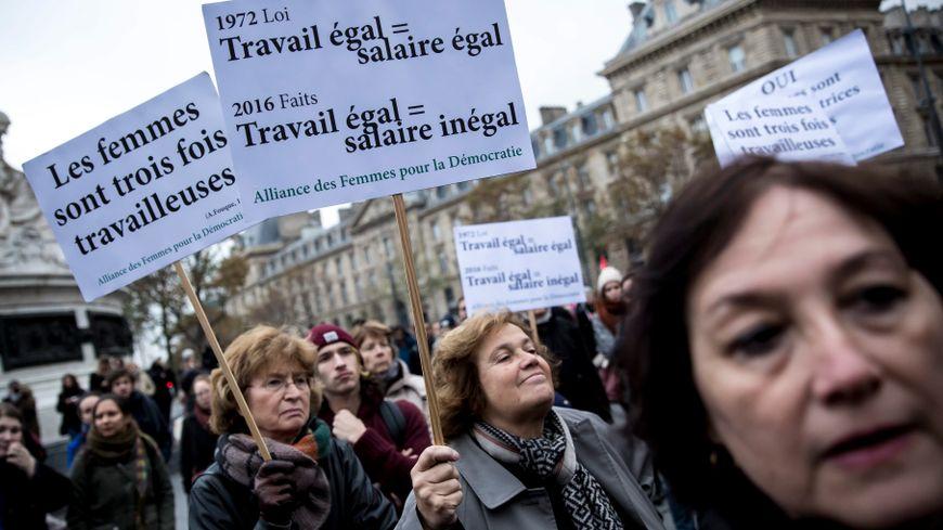 """Rassemblement du collectif """"Les Glorieuses"""", à Paris, le 7 novembre 2016."""